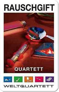RAUSCHGIFT QUARTETT weltquartett>NEU>KOKAIN opium PCP cannabis HEROIN ectasy LS