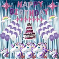 58 Pc Unicorn Birthday party Supplies Unicorn Balloons decoration Set  U.S.A