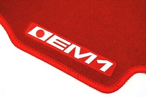 VMS 99-00 HONDA CIVIC SI EM1 2DR RED FLOOR MATS CARPETS INTERIOR CUSTOM FIT