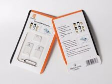 4 In 1 Pack Micro Nano Standard Sim Card Adapters for iPhone, Samsung, Sony, LG