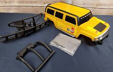 "New Bright Hummer H3 Crawler Body Yellow w Red Decals 13"" Long"