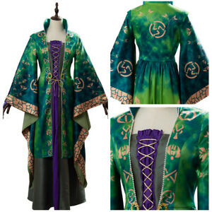 Hocus Pocus Winifred Sanderson Cosplay Costume Suit Dress Halloween Outfit