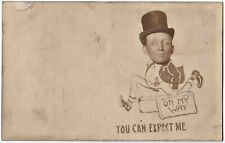 """Novelty Postcard: Unused with Bing Crosby or his Look-Alike: """"You Can Expect Me"""""""