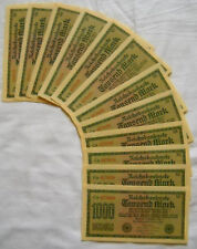 1922 Germany 1000 Mark Banknote-Price Per Banknote-UNC Condition- 17-417