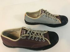 Rare Jack Purcell Converse Sneakers Size 6.5 Men 8 Women Leather Gray Brown