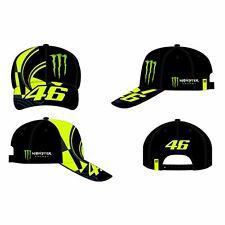Vr46 Valentino Rossi 46 Monster Gorra Ajustable - Réplica Negro