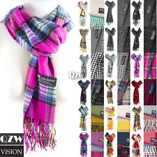 Womens Mens Winter Warm Soft 100% Cashmere Scarf Scotland Made Scarves Wrap Wool