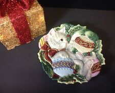 Fitz & Floyd Kristmas Kitty Canapé Hand Crafted Kitty Wall Hanging/Serveware New