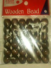 36 brown wood dreadlock braid Ponytail  bracelets hair Extension crafts beads