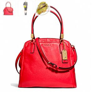 NWT Coach Madison Leather Minetta Crossbody F27862 Love Red
