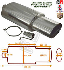 UNIVERSAL STAINLESS STEEL PERFORMANCE EXHAUST BACKBOX - BK15071 – VW 2