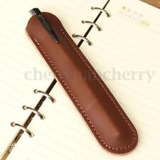 Genuine Leather Handcraf Single Pen Case Pencil Bag Holder Storage Pouch Sleeve