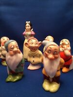 Snow White and the Seven Dwarfs Toothbrush Holders 1930's