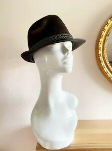 Vintage trilby hat, fedora hat Echler Rockel,mens hat,church,floppy hat,wool hat
