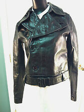 RALPH LAUREN WOMEN'S MOTORCYCLE STYLE LEATHER JACKET!!! SIZE SMALL