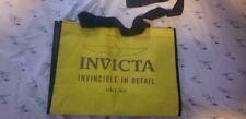 INVICTA WATCH COLLECTORS YELLOW VINYL TOTE BAG, brand new