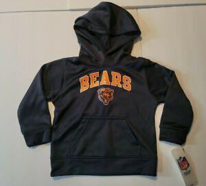 New Toddler NFL Chicago Bears Hoody Sweatshirt Navy Size 2T Hoodie Football