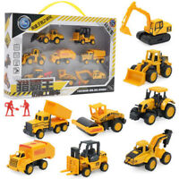 8Pcs/set Mini Alloy Construction Truck Car Model Toy Digger Kids Christmas Gift