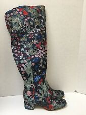 Sam Edelman Elina Jacquard Over The Knee Boots Zipper Size 8 Gorgeous