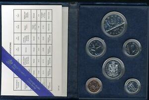 1986 Royal Canadian Mint Proof (6) Coin Set JE673