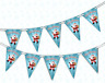 Merry Christmas Cute Santa Bunting Banner 15 flags by PARTY DECOR