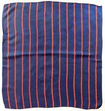 "Vintage striped scarf mid 20th century regimental or school 26"" square ew"