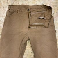 Vintage Dickies Thick Canvas Carpenter Pants Trousers Jeans Tan Brown W36 L30