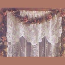 "Iona Scottish Cotton Lace Curtains - 52 x 20"" Long Valance - White"