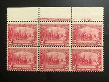 United States #329 MHR Imprint Plate Block CV$625.00 Ave-F Top #3656