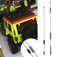 2Pcs For 4WD 1:10 RC Car 1:7- 1:10 Control Controller  Metal Antenna w/Flag