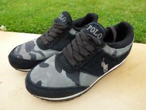 Mens Polo Ralph Lauren Black camo trainers shoes. Size UK 6.