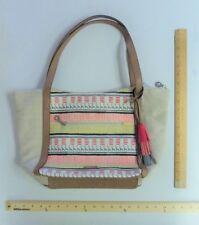 5e8fea38a8 RELIC Beige Tan Coral Pink Hand Bag Purse Ladies Tote Giraffe - FLASH SALE
