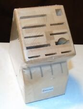 Wusthof 15 Slot Solid Bamboo Wood Knife Block 2265-100 BRAND NEW ORIGINAL WRAP