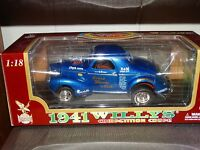 Road Legends 1941 Willys Coupe Stone Woods & Cook Gasser 1:18 Scale Diecast Car