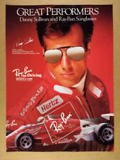1988 Danny Sullivan photo Ray-Ban Sunglasses vintage print Ad