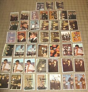 Lot of 45 BEATLES COLOR CARDS 1964 Topps - Most are in GD/VG Condition w/dups