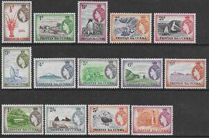 TRISTAN DA CUNHA 1954 QE II set VF LHM SG 14/27