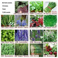 7050 Herb Seeds 15 Varieties Cilantro Cumin Lemon Grass Pepper Spearmint Roselle