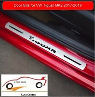 New Stainless Steel Scuff Plate Door sill Trim For Volkswagen Tiguan MK2 2017-19