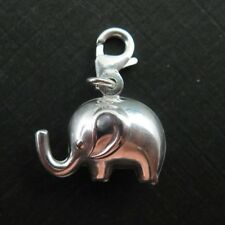 Sterling Silver Charm Bracelet Charms -Elephant Charm with clasp (per 1 pc)