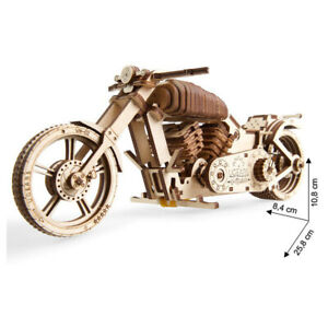 Ugears - Wood Model Building Bike Motorcycle VM-02 189 Pieces