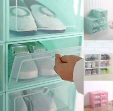 Wholesale Foldable Clear Plastic Shoe Boxes Storage Organizer Stackable Home Box
