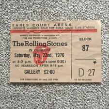 Rolling Stones ticket Earls Court 22/05/76 #D27