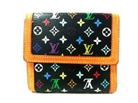 Auth LOUIS VUITTON M92984 Noir Monogram Multicolore TH1005 Double-hook Wallet