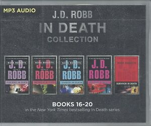 J D Robb In Death Series Books 16-20 Five Unabridged MP3 Audio Books