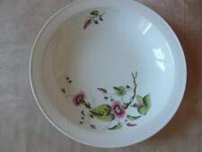 Plat rond creux liserons fleurs porcelaine années 30