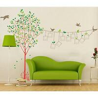Removable Tree Photo Frame Bird Vinyl Art Wall Sticker Decal Mural Home Decor