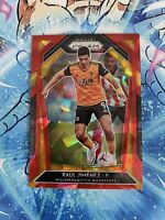 Raul Jimenez 2020-21 Panini Prizm Soccer Red Cracked Ice Wolverhampton Card #149
