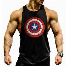 Captain America Mens Tank Top Muscle Shirt Sleeveless Bodybuilding Fitness Vest