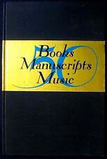 50 Books Manuscripts Music Scribner Book Store New York Hbk. 1937 Vg+